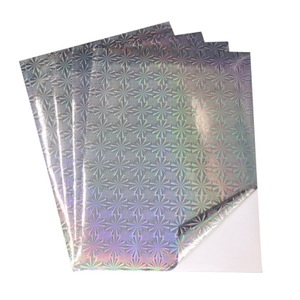 Self Adhesive Holographic Paper Foil Sticker Material Laser Printing A4 For Printer